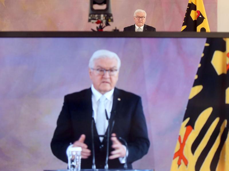Bundespräsident Frank-Walter Steinmeier betonte in seiner in diesem Punkt ungewöhnlich scharf formulierten Rede, es gehe um sehr viel mehr als nur individuelles Fehlverhalten. Foto: Wolfgang Kumm/dpa