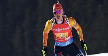 Musste sich im Sprint in Nove Mesto lediglich Tiril Eckhoff geschlagen geben. Foto: Sven Hoppe/dpa