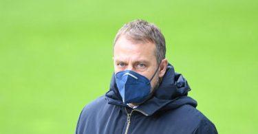 Bayern-Trainer Hansi Flick wird als möglicher Nachfolger von Bundestrainer Joachim Löw gehandelt. Foto: Carmen Jaspersen/dpa-Pool/dpa