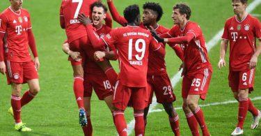 Die Bayern haben den Vorsprung auf RBLeipzig vorerst auf fünf Punkte ausgebaut. Foto: Carmen Jaspersen/dpa-Pool/dpa