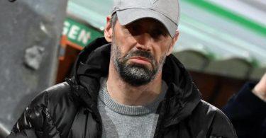 Trainer Marco Rose wartet mit Borussia Mönchengladbach seit sieben Spieltagen auf einen Sieg. Foto: Matthias Balk/dpa