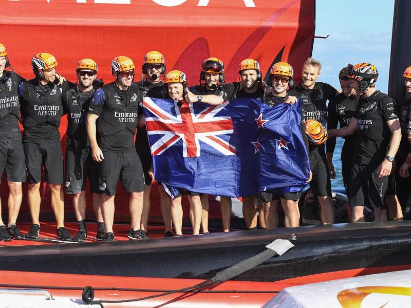 Neuseeland hat zum vierten Mal den America's Cup gewonnen. Foto: Chris Cameron/Photosport/AP/dpa