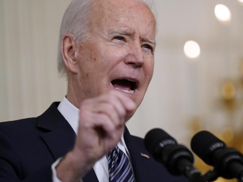 Macht noch keine Angaben dazu, was für Konsequenzen die Erkenntnisse für Russland haben könnten: Joe Biden. Foto: Patrick Semansky/AP/dpa