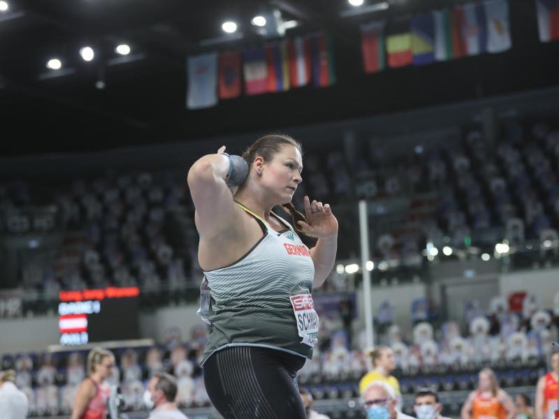 Christina Schwanitz hat an der Hallen-EM in Torun teilgenommen. Foto: Leszek Szymanski/PAP/dpa