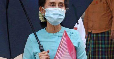 Myanmars Regierungschefin Aung San Suu Kyi. Foto: Aung Shine Oo/AP/dpa