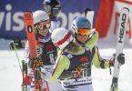 Das deutsche Mixed-Team freut sich über Rang zwei. Foto: Marco Trovati/AP/dpa