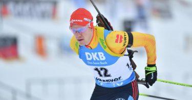 Wurde Zehnter im Sprint in Östersund: Roman Rees. Foto: Martin Schutt/dpa