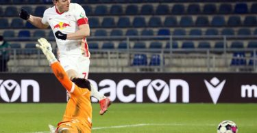 Marcel Sabitzer erzielte für Leipzig den Treffer des Tages. Foto: Friso Gentsch/dpa