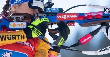 Sicherte sich Platz drei im Biathlon-Gesamtweltcup: Franziska Preuß. Foto: Sven Hoppe/dpa