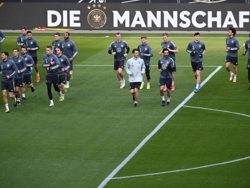 Beim DFB-Team hat es vor dem WM-Qualifikationsspiel gegen Island einen positiven Corona-Test gegeben. Foto: Federico Gambarini/dpa