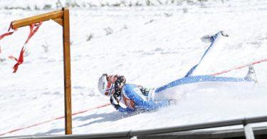 Skiflug-WeltmeisterDanielAndre Tande stürzte schwer im slowenischen Planica. Foto: Uncredited/AP/dpa