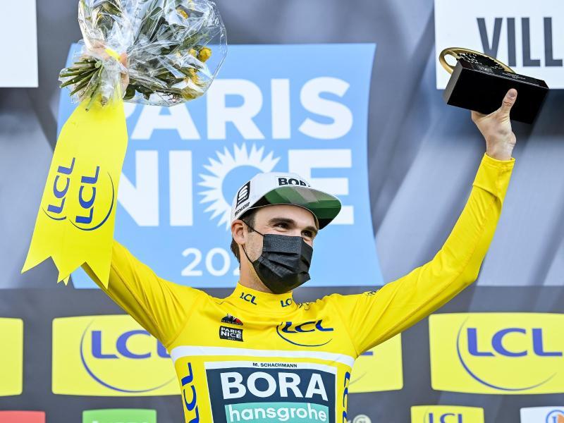 Holte wie im Vorjahr den Gesamtsieg bei Paris-Nizza, 2021 aber an anderer Stelle - wegen Corona: Maximilian Schachmann. Foto: David Stockman/BELGA/dpa