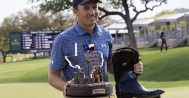 Jordan Spieth gewann die Texas Open. Foto: Michael Thomas/AP/dpa