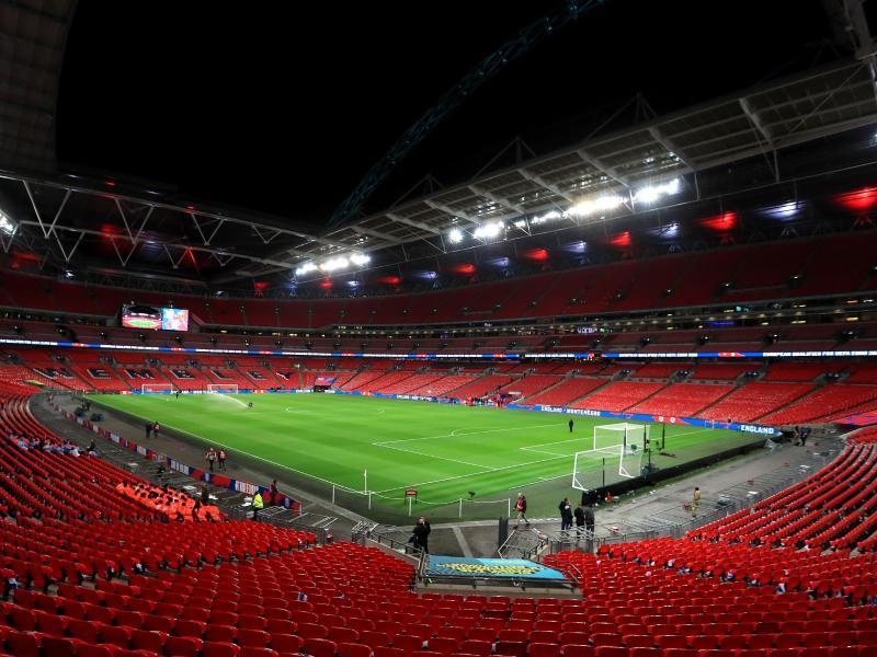 In London sollen die Fans ins Wembley-Stadion zurückkehren. Foto: Mike Egerton/PA Wire/dpa