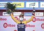 Primoz Roglic hat das Zeitfahren zum Auftakt der Baskenland-Rundfahrt gewonnen. Foto: H.Bilbao/EUROPA PRESS/dpa