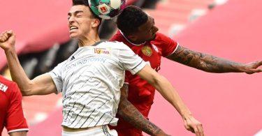 Petar Musa (M) erkämpfte sich mit Union Berlin einen Punkt beim FC Bayern. Foto: Sven Hoppe/dpa