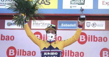 Gesamtsieger der 60. Baskenland-Rundfahrt: Primoz Roglic. Foto: H.Bilbao/EUROPA PRESS/dpa