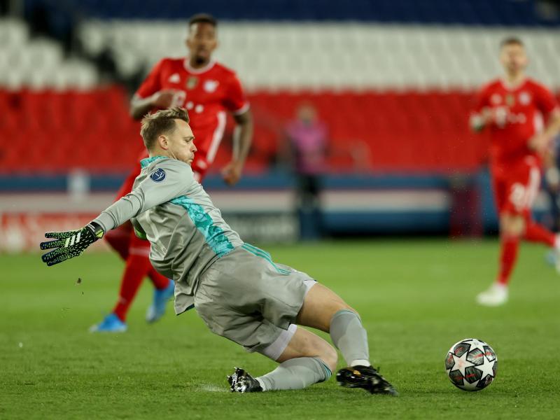 Münchens Torwart Manuel Neuer in Aktion. Foto: Sebastien Muylaert/dpa