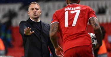 Die Diskussionen um die Zukunft von Trainer Hansi Flick werden nach dem Aus der Bayern in der Champions League nicht weniger werden. Foto: Franck Fife/3p-afp/dpa