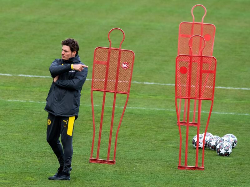 Kann gegen Manchester City auf Mats Hummels, Marco Reus und Jude Bellingham bauen: Trainer Edin Terzic. Foto: Bernd Thissen/dpa
