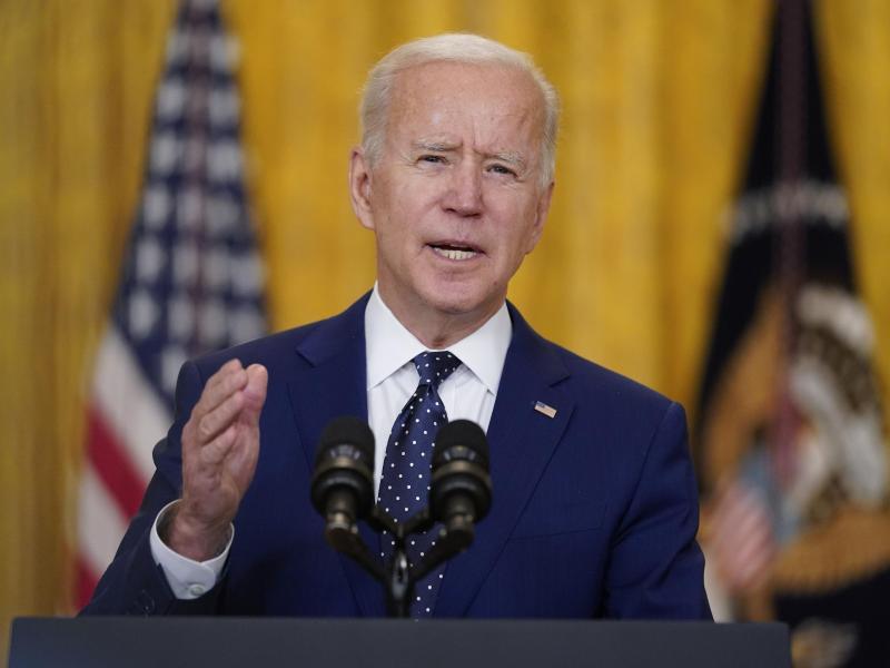 US-Präsident Joe Biden will die Spannungen mit Moskau nicht weiter verschärfen. Foto: Andrew Harnik/AP/dpa