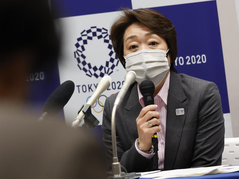 Trotz stark steigender Corona-Infektionszahlen in Japan schloss OK-Präsidentin Seiko Hashimoto eine Olympia-Absage aus. Foto: Rodrigo Reyes Marin/ZUMA Wire/dpa