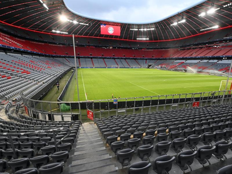 Blick in die Allianz-Arena. Hier sollen die drei EM-Gruppenspiele der deutschen Nationalmannschaft stattfinden. Foto: Sven Hoppe/dpa