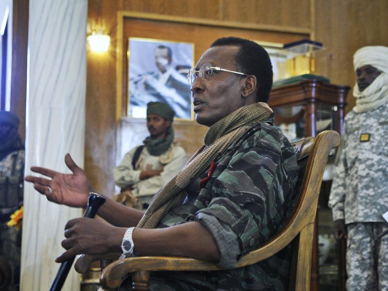 Präsident Idriss Deby Itno, hier bei einer Pressekonferenz 2008, ist tot. Foto: Jerome Delay/AP/dpa