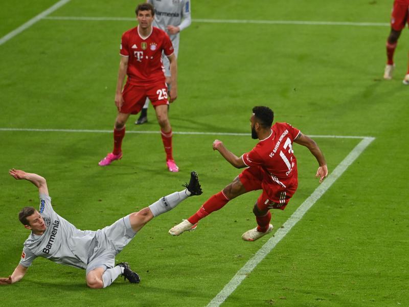 Eric Maxim Choupo-Moting brachte die Bayern gegen Leverkusen in Führung. Foto: Christof Stache/AFP Pool/dpa