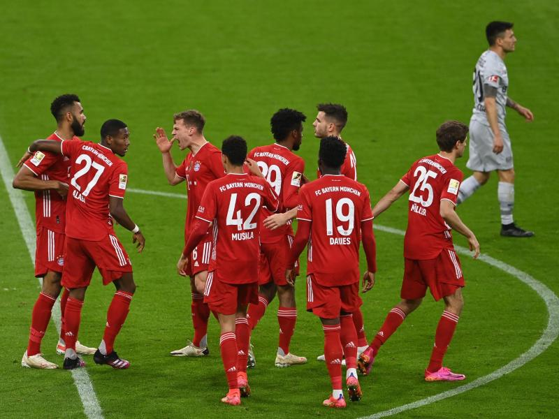 Der FC Bayern machte durch den Sieg gegen Leverkusen einen großen Schritt Richtung Meisterschaft. Foto: Christof Stache/AFP Pool/dpa