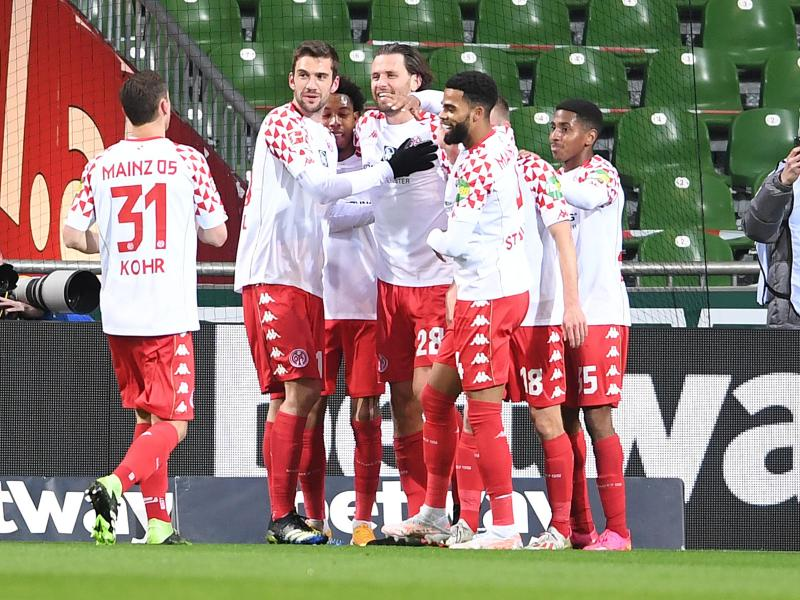 Durch den Sieg in Bremen zog Mainz 05 in der Tabelle an Werder vorbei. Foto: Carmen Jaspersen/dpa