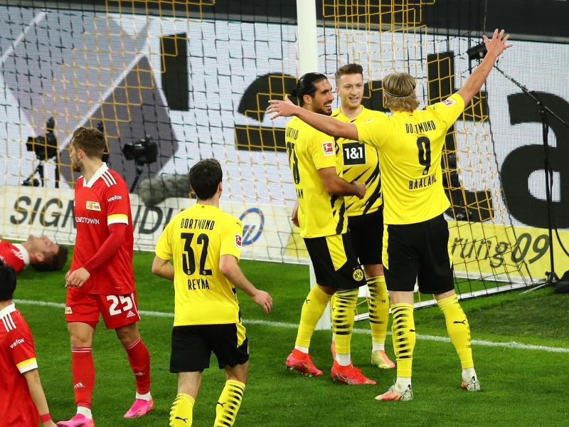 Borussia Dortmund gewann daheim gegen Union Berlin. Foto: Christoph Koepsel/Getty Pool/dpa