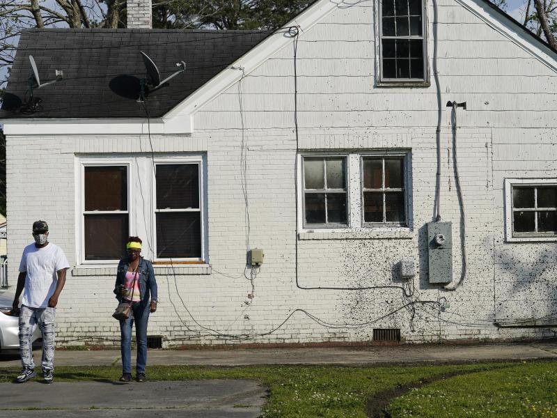 In der Kleinstadt Elizabeth City im US-Bundesstaat North Carolina wurde ein Afroamerikaner bei einem Polizeiensatz getötet. Foto: Gerry Broome/AP/dpa
