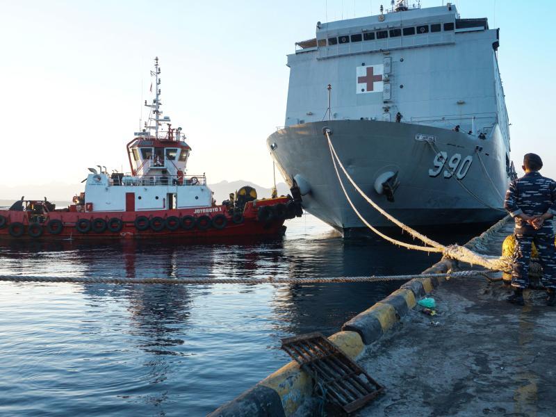 Die indonesische Marine ist auf der Suche nach der «KRI Nanggala-402». Foto: Kurniawan/Xinhua/dpa
