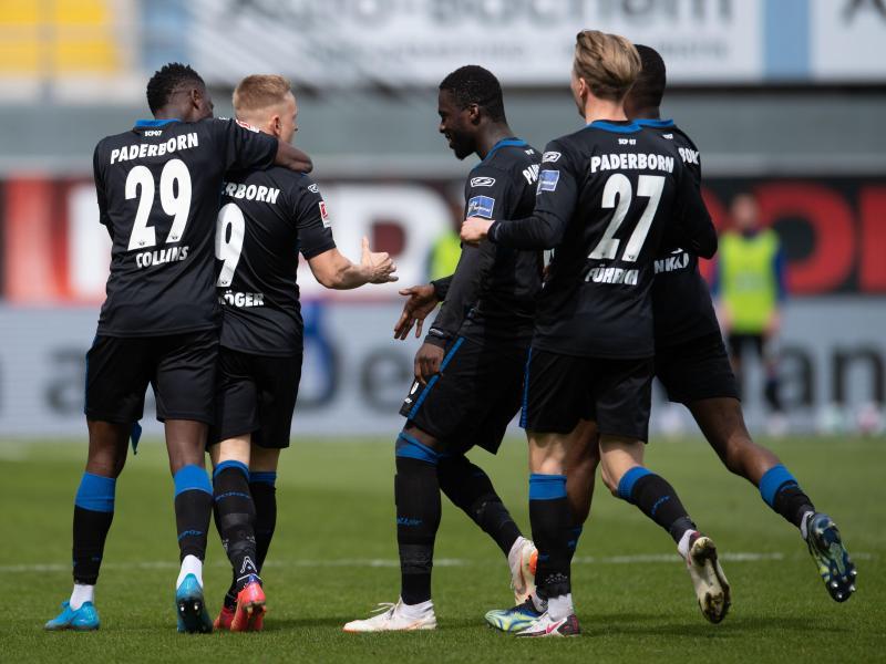 Der SC Paderborn wandelte einen Rückstand noch in einen Sieg gegen Düsseldorf um. Foto: Marius Becker/dpa