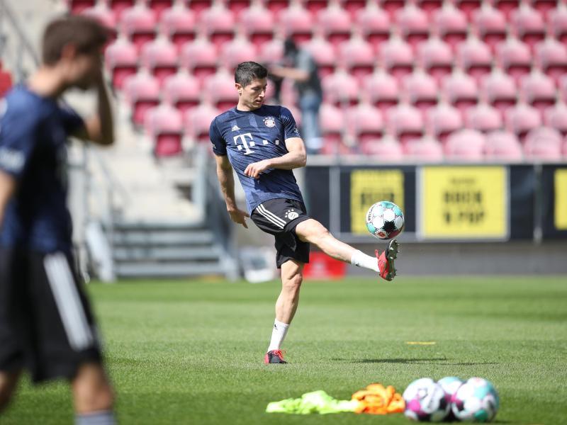Ist nach seiner Verletzungpause zurück in Bayerns Startelf: Torjäger Robert Lewandowski. Foto: Tom Weller/dpa-Pool/dpa