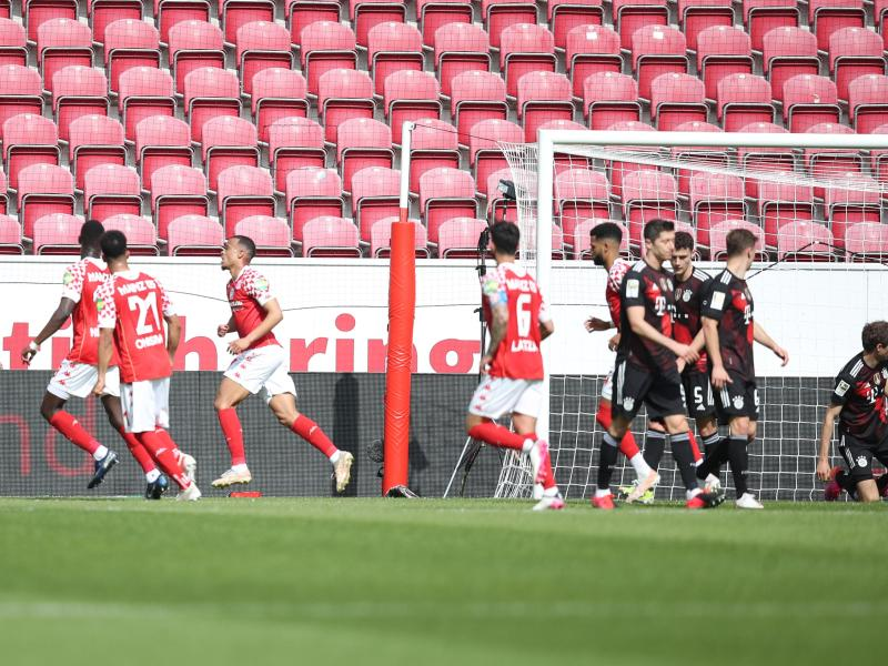 Mainz 05 vermasselte dem FC Bayern die vorzeitige Meisterschaft. Foto: Tom Weller/dpa-Pool/dpa