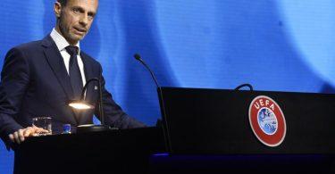 Aleksander Ceferin ist der Präsident der UEFA. Foto: Richard Juilliart/UEFA/AP/dpa
