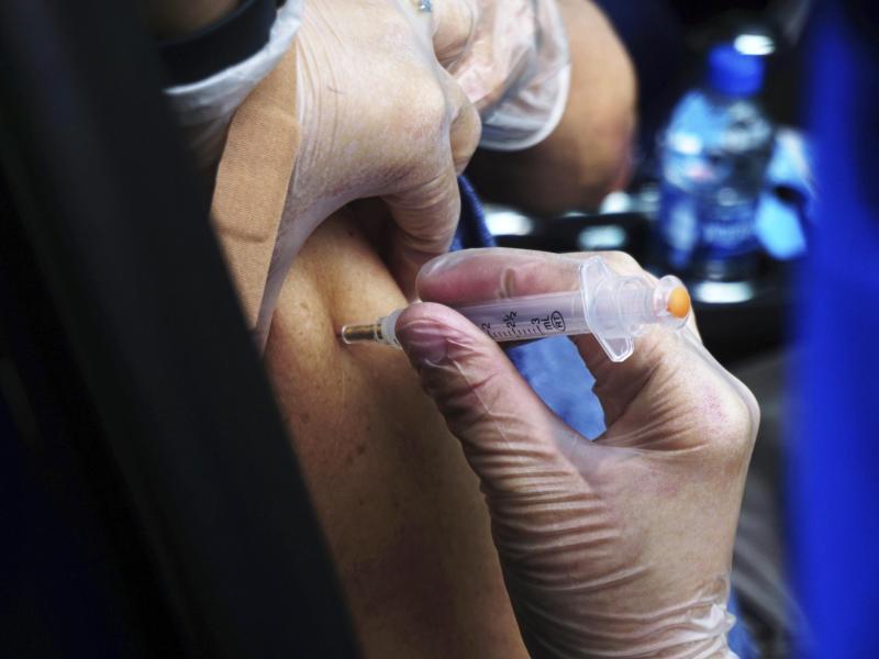 Corona-Impfung in einer regionalen Impfstelle in Brownsville im US-Bundesstaat Texas. Foto: Miguel Roberts/The Brownsville Herald/AP/dpa