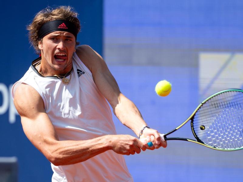 Hat in München das Viertelfinale erreicht: Alexander Zverev in Aktion. Foto: Sven Hoppe/dpa