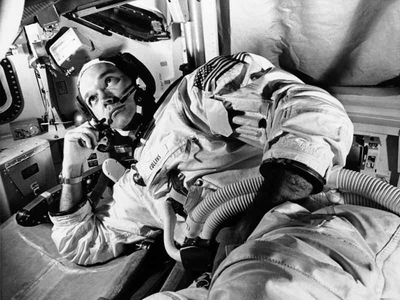 Vor der Mondfahrt war Michael Collins schon Pilot der «Gemini 10»-Mission, der ersten, bei der das Raumschiff an gleich zwei Satelliten nacheinander andockte. Foto: Uncredited/AP/dpa