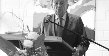 Wildor Hollmann 2020 bei Einweihung des nach ihm benannten Forums, (c) Deutsche Sporthochschule Köln