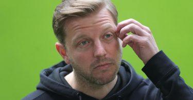 Im Pokal-Halbfinale gegen RB Leipzig geht es um seinen Job: Bremens Trainer Florian Kohfeldt. Foto: Friedemann Vogel/EPA-Pool/dpa