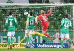 Emil Forsberg (M/10) erzielt das Tor zum 2:1 für RB Leipzig in Bremen. Foto: Carmen Jaspersen/dpa
