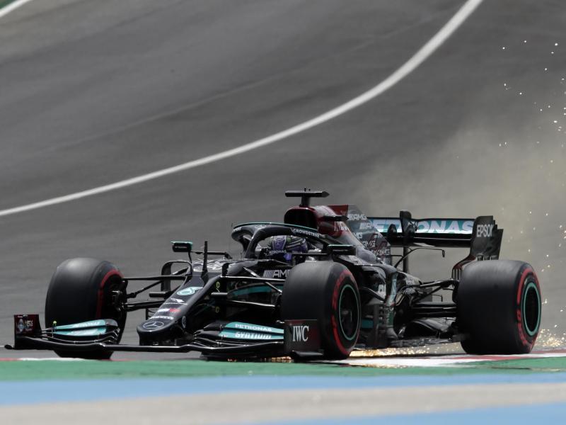 Lewis Hamilton fehlten gerade einmal sieben Tausendstelsekunden zur 100. Pole. Foto: Manu Fernandez/AP/dpa