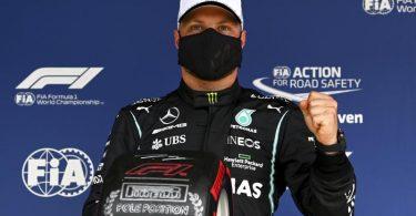 Hamilton-Teamkollege Valtteri Bottas sicherte sich beim Großen Preis von Portugal die Pole. Foto: Gabriel Buoys/Pool AFP/AP/dpa