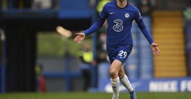 Hat für den FC Chelsea das Tor zum 2:0 gegen Fulham erzielt: Kai Havertz. Foto: Justin Setterfield/Pool Getty/AP/dpa