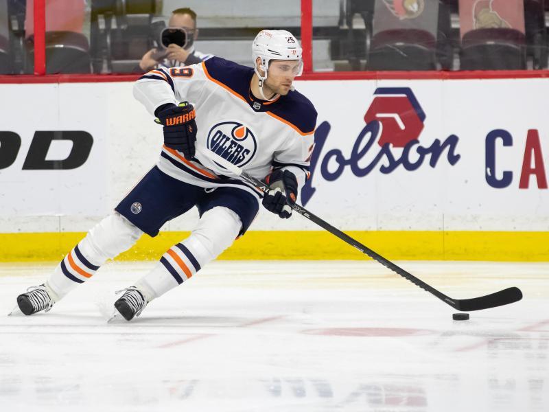 Leon Draisaitl erreichte mit den Edmonton Oilers die NHL-Playoffs. Foto: Daniel Lea/CSM via ZUMA Wire/dpa