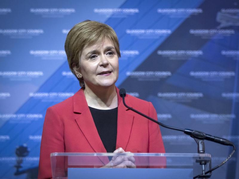 Nicola Sturgeon will ein erneutes Referendum über die Unabhängigkeit Schottlands. Foto: Jane Barlow/PA Wire/dpa