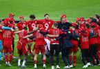 Der FC Bayern München wurde zum neunten Mal in Folge deutscher Fußball-Meister. Foto: Peter Kneffel/dpa-Pool/dpa